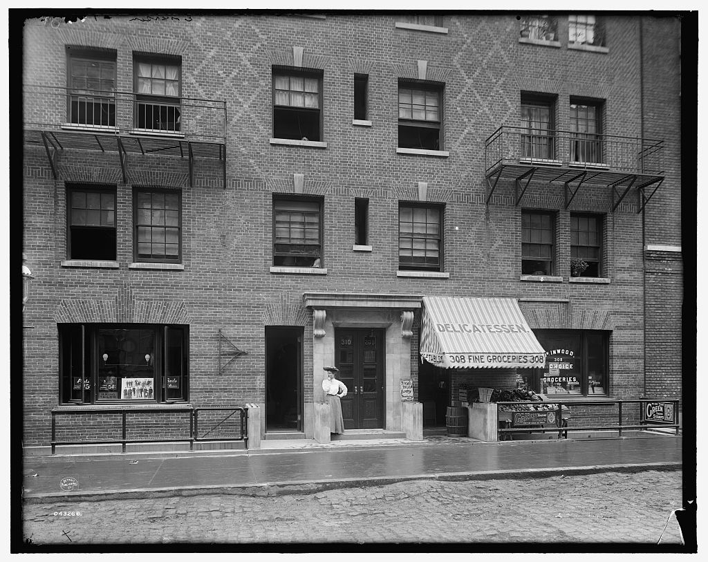 Exterior of tenement house, New York City